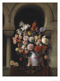 Vase of Flowers in the Window Giclee Print by Francesco Hayez