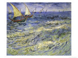 Seascape at Saintes, Maries Premium Giclee Print by Vincent van Gogh