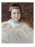 Little Girl Giclee Print by William Merritt Chase