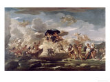 Scene with the Rape of Proserpine Giclee Print by Luca Giordano