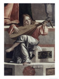 Child with a Lute Giclée-tryk af Vittore Carpaccio