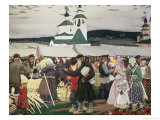 The Fair Giclee Print by B. M. Kustodiev