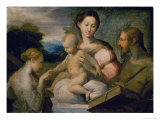 Mystical Wedding of Saint Catherine Gicleetryck av Parmigianino,