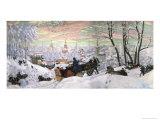 Fasching Giclee Print by B. M. Kustodiev
