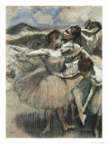 The Dancers Giclee Print by Edgar Degas