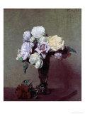 Vase of Flowers Premium Giclee Print by Henri Fantin-Latour
