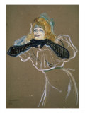 La Chanteuse: Yvette Gilbert Giclee Print by Henri de Toulouse-Lautrec