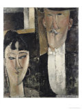 Bride and Groom Giclee Print by Amedeo Modigliani