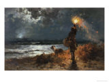 The Signal Giclee Print by Edward Moran