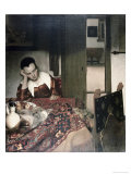 Girl Asleep at a Table Reproduction procédé giclée par Jan Vermeer