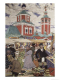 At the Fair Giclee Print by B. M. Kustodiev