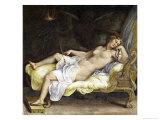 Dream of Ecuba Giclée-tryk af Giulio Romano