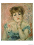 Portrait of Actress Jeanne Samary Giclee Print by Pierre-Auguste Renoir