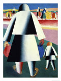 To the Harvest, Marfa and Wanka Giclee Print by Kasimir Malevich