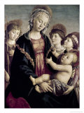 Madonna and Child with St. John Baptist and Two Angels, c.1468 Giclee Print by Sandro Botticelli