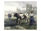 The Milkmaid Giclee Print by Julien Dupre