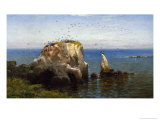 Rocks on the Sonoma Coast, California Premium Giclee Print by Robert Swain Gifford
