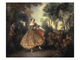 Mademoiselle Camargo Dancing Giclee Print by Nicolas Lancret