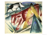 Animaux, c.1913 Giclee Print by Franz Marc