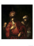 David and Uriah Giclee Print by  Rembrandt van Rijn
