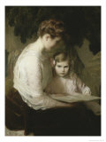 Mother and Child Reading Giclee Print by Lilla Cabot Perry