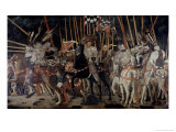 Battle of San Romano: the Counter Attack of Michelotto Da Contignola Gicleetryck av Paolo Uccello