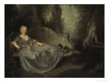 Lady in the Garden Giclee Print by Nicolas Lancret