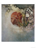Head with Flowers Giclee Print by Odilon Redon