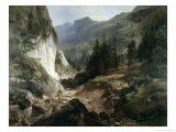 Mountain Landscape Giclee Print by Herman Fueschel