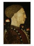 Portrait of Lionello D'Este, c.1441 Giclée-tryk af Antonio Pisani Pisanello
