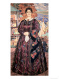 The Business Woman Giclee Print by B. M. Kustodiev