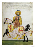 Gold Knight and Pink Horse: Capodilista Codex Giclee Print