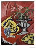 Still Life with a Vase Giclee Print by Olga Vladimirovna Rozanova