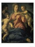 The Holy Family Giclée-tryk af Agnolo Bronzino