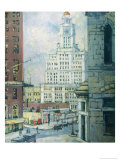 Inquirer Building, Philadelphia Giclee Print by Florence Doll Bradway