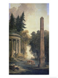 The Pavilion Giclee Print by Hubert Robert