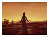 Morning Light Giclee Print by Caspar David Friedrich