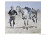 Trooper of the Plains Giclee Print by Frederic Sackrider Remington