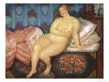Die Schone Giclee Print by B. M. Kustodiev