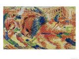 La Citta Che Sale Giclee Print by Umberto Boccioni