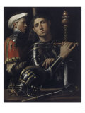 Portrait of a Man in Armor with His Page Lámina giclée por  Giorgione