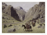 Through the Mountains Giclee Print by Henry F. Farny