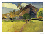 Tahitian Landscape with a Mountain Giclee Print by Paul Gauguin