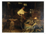 The Blacksmith Giclee Print by Jefferson David Chalfant