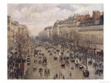 Boulevard Montmartre in Paris Giclee Print by Camille Pissarro