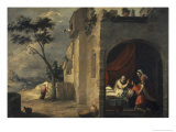 Isaac Blesses Jacob Giclee Print by Bartolome Esteban Murillo
