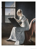 Young Woman Drawing, c.1801 Giclée-Druck von Marie Denise Villers