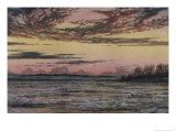 Sunset over the Ice Giclee Print by Frederic Edwin Church