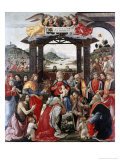 Adoration of the Magi Giclée-tryk af Domenico Ghirlandaio
