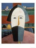 Farmer's Head Giclee Print by Kasimir Malevich